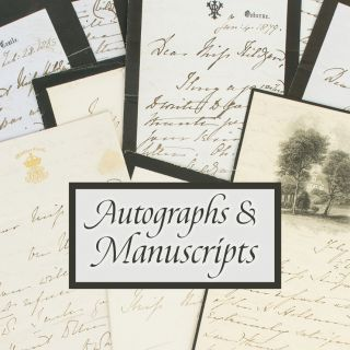 Autographs and Manuscripts