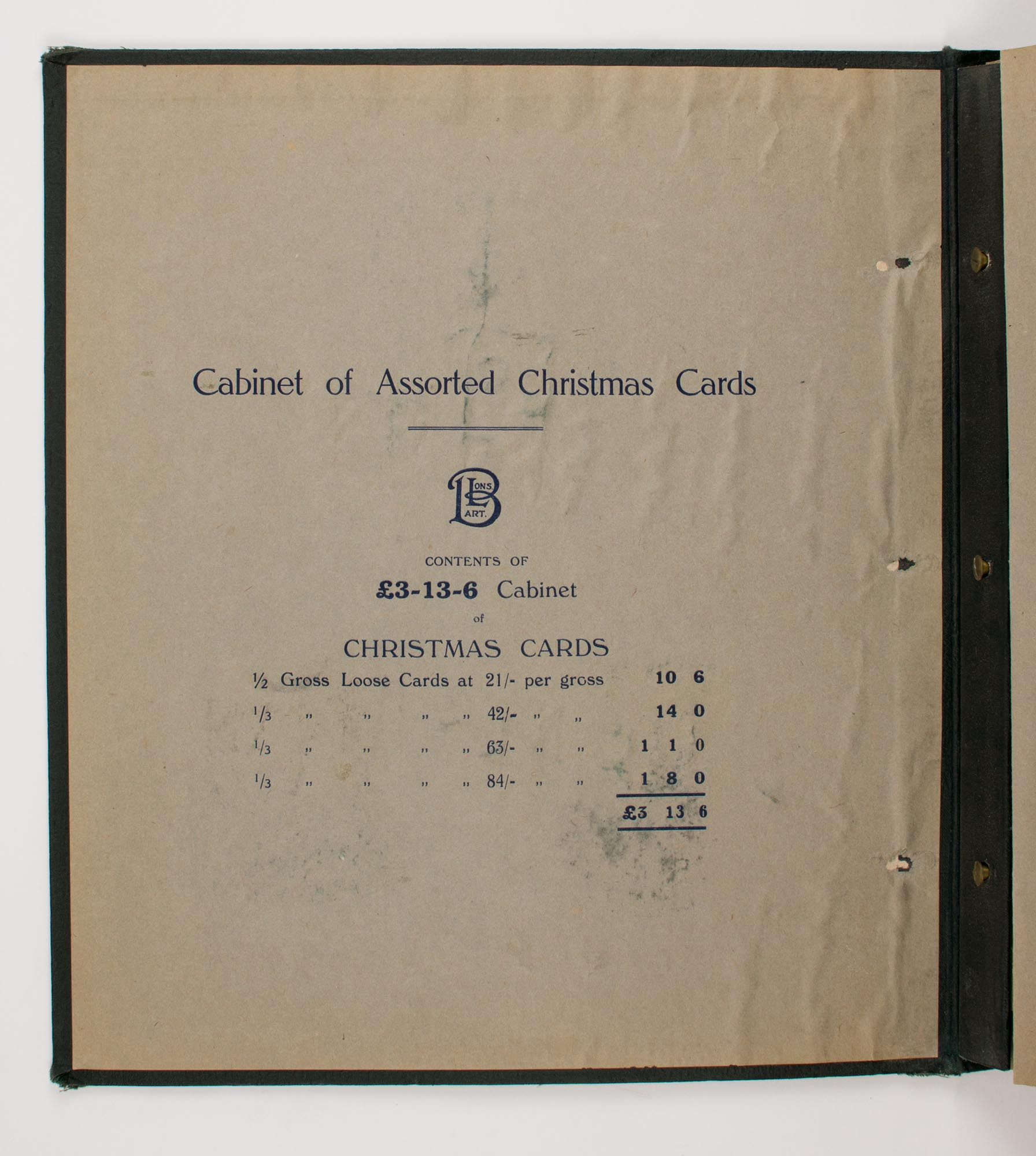 Art Christmas Cards cover title . Cabinet of Assorted Christmas ...