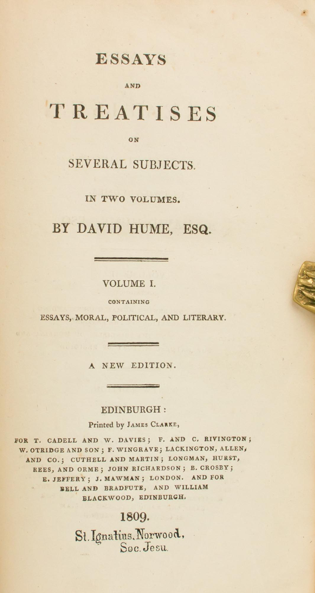 essays and treatises on several subjects in two volumes volume   image  of  for essays and treatises on several subjects in two volumes