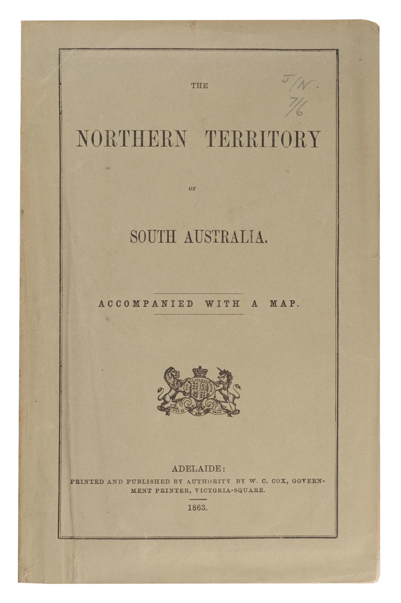 Map Of South Australia And Northern Territory.The Northern Territory Of South Australia Accompanied With A Map