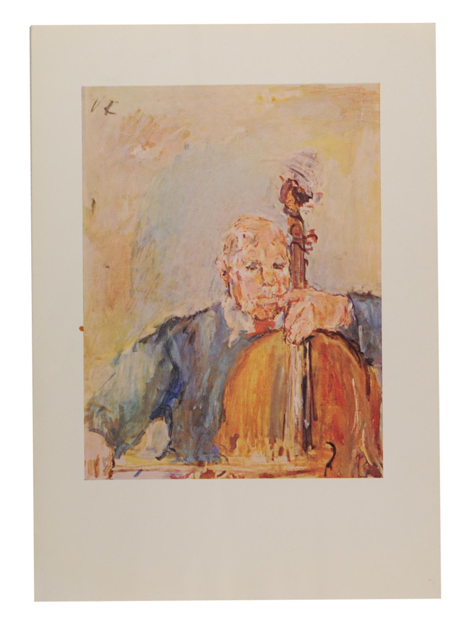 Four printed pictorial Christmas cards by, and from, Oskar Kokoschka ...
