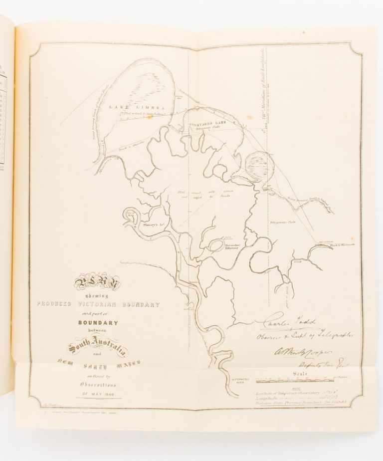 Boundary of New South South Wales and South Australia.. Report on the Determination of the Boundary Line of the Colonies of South Australia and New South Wales, by Charles Todd. New South Wales, South Australia.