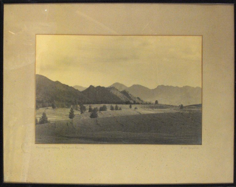 'Bunyeroo Valley, Flinders Ranges'. A vintage gelatin silver photograph (visible image size 230 × 360 mm) captioned and signed in pencil on the mat by this influential pioneering South Australian photographer. Frederick Allen JOYNER.