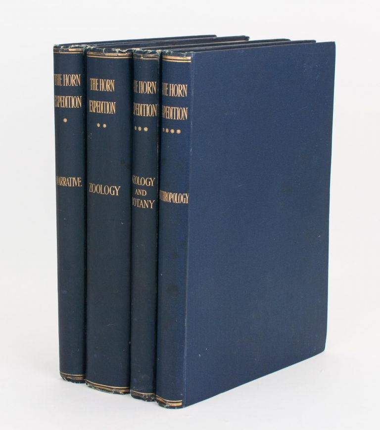 Report on the Work of the Horn Scientific Expedition to Central Australia. [Volume 1: Introduction, Narrative, Summary of Results, Supplement to Zoological Report, Map. Volume 2: Zoology. Volume 3: Geology and Botany. Volume 4: Anthropology]. Horn Scientific Expedition, Baldwin SPENCER, Sir Walter.