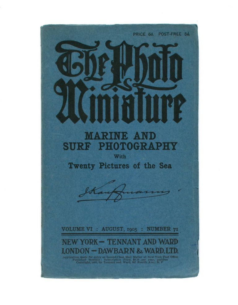 The Photo-Miniature. A Magazine of Photographic Information. Edited by John A. Tennant. Volume 6, Number 71, August 1905. Marine and Surf Photography