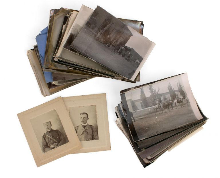 A collection of six different vintage portrait photographs of Lieutenant (later Captain) Samuel Albert White, together with 65 personal snapshots from his Boer War days. Boer War, Captain Samuel Albert WHITE.