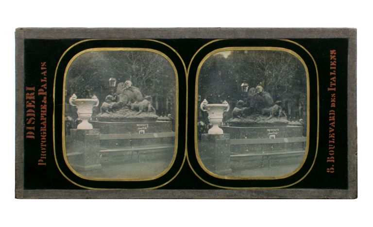 A stereo-daguerreotype (86 × 173 mm) of the Exposition Universelle in Paris in 1855, the first International Exhibition held in France. André Adolphe-Eugène DISDERI.