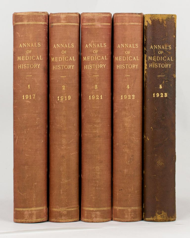 Annals of Medical History. Volume 1, 1917 to Third Series, Volume 4, 1942 (the complete set)