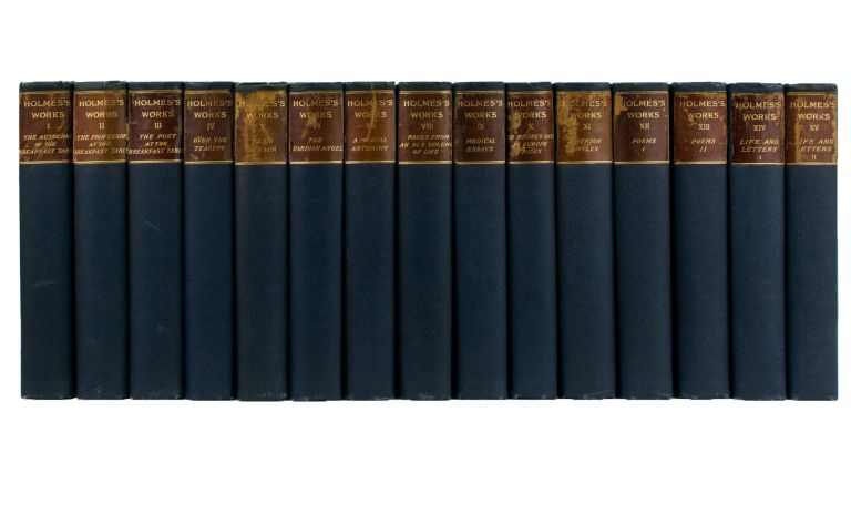 The Works of Oliver Wendell Holmes. [Standard Library Edition, complete in 13 volumes, together with the two companion volumes by J.T. Morse Jr, 'Life and Letters of Oliver Wendell Holmes']. Oliver Wendell HOLMES.