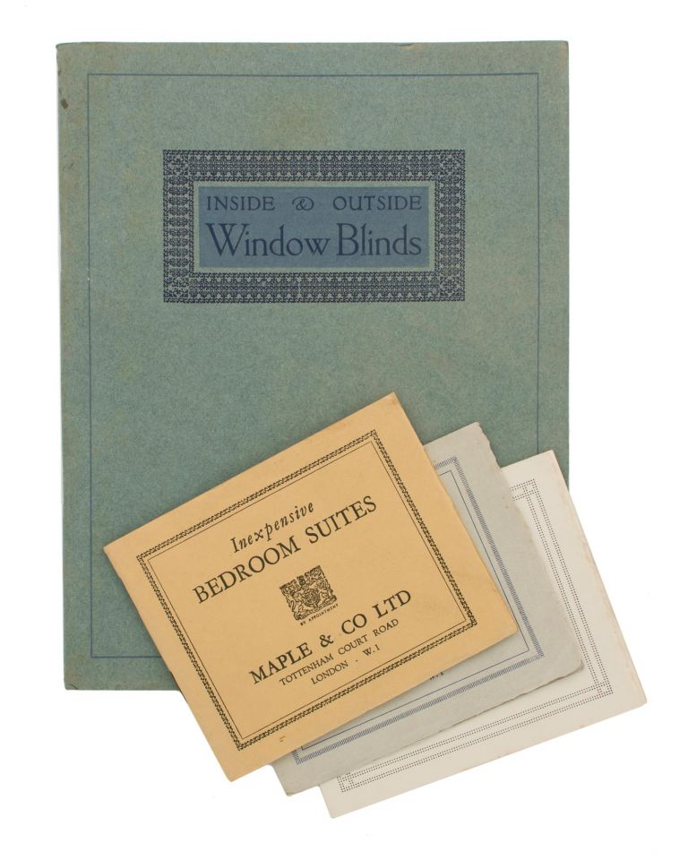 A Few Examples of Inexpensive Blinds and Laces [Inside & Outside Window Blinds (cover title)]. Trade Catalogue.