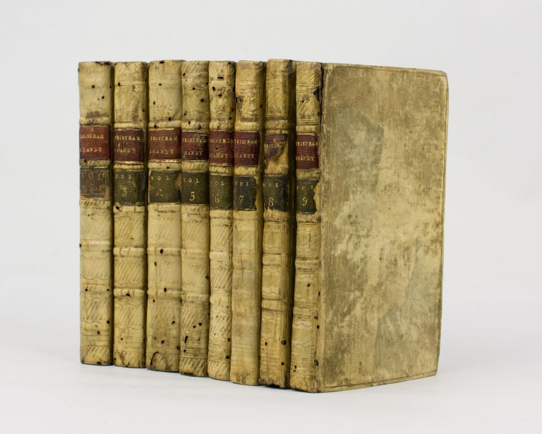The Life and Opinions of Tristram Shandy, Gentleman [eight volumes of the nine-volume set, with three volumes signed by the author]. Laurence STERNE.