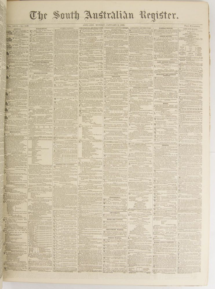 The South Australian Register. Volume XXIV, Number 4124, Tuesday 3 January 1860 to Volume XXIV, Number 4434, Monday 31 December 1860