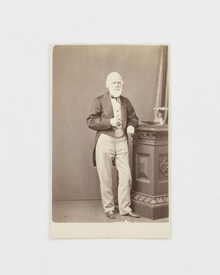 A vintage carte de visite photographic portrait of George Fife Angas (1789-1879), the influential South Australian pioneer. George Fife ANGAS.