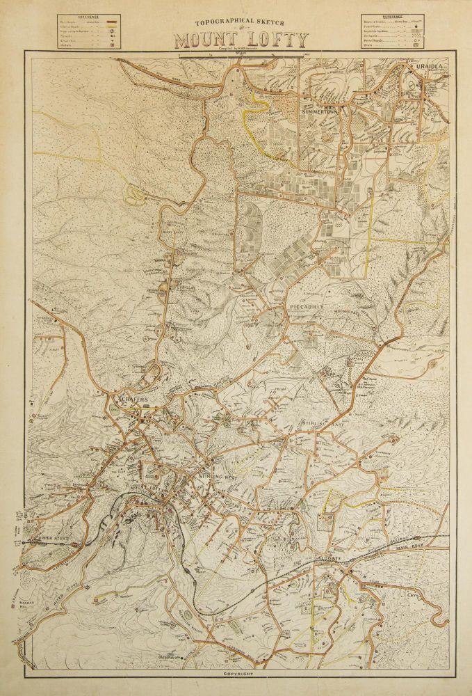 Topographical Sketch of Mount Lofty. Compiled by W.H. Edmunds. William Herbert EDMUNDS.