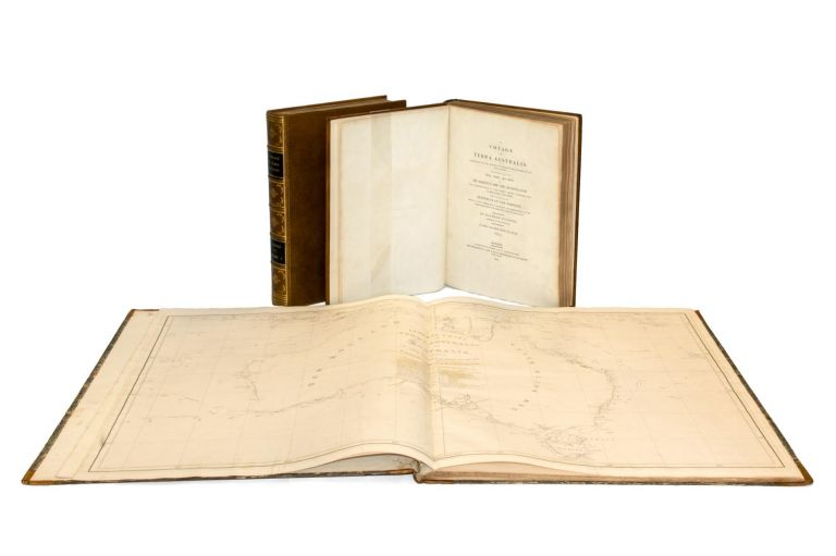 A Voyage to Terra Australis, undertaken for the Purpose of completing the Discovery of that Vast Continent, and prosecuted in the years 1801, 1802, and 1803, in His Majesty's Ship the 'Investigator', and subsequently in the Armed Vessel 'Porpoise' and 'Cumberland' Schooner. With an Account of the Shipwreck of the 'Porpoise', Arrival of the 'Cumberland' at Mauritius, and Imprisonment of the Commander during six years and a half in that Island. Matthew FLINDERS.