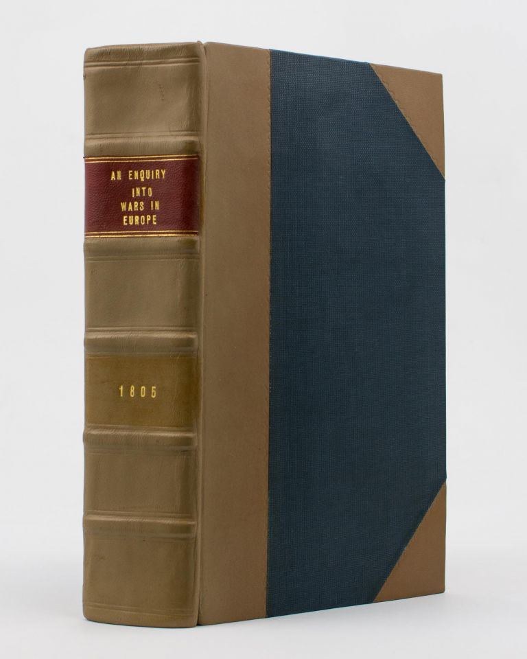 A bound volume of eight pamphlets or books relating to war and global affairs, published at the height of the Napoleonic Wars. Napoleonic Wars.