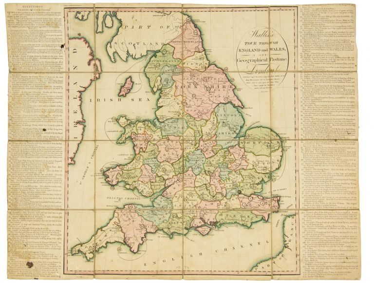 Wallis's Tour through England and Wales. A New Geographical Pastime. Cartographic Game.