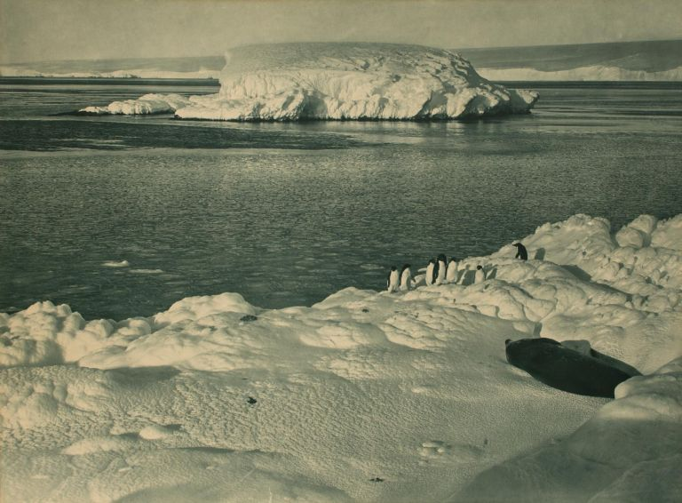 'An Ice Capped Islet'. Australasian Antarctic Expedition, Frank HURLEY.