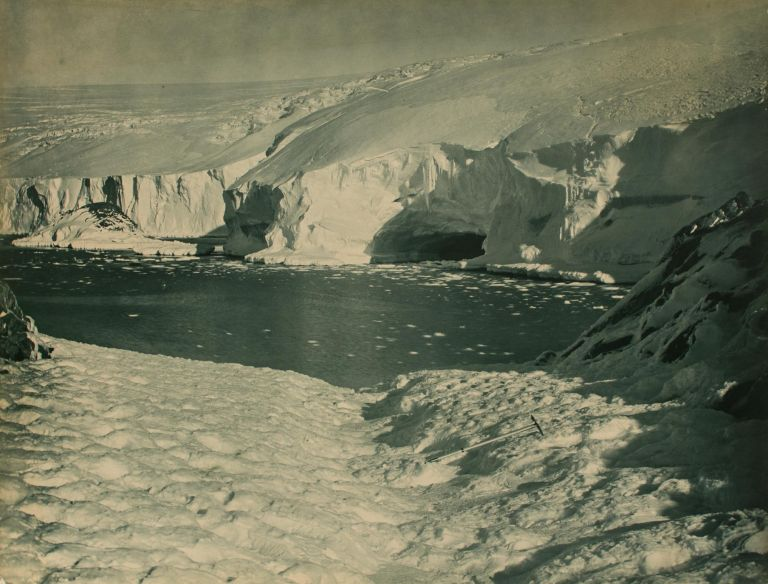 'A Wave Worn Stretch of Icy Coast'. Australasian Antarctic Expedition, Frank HURLEY.