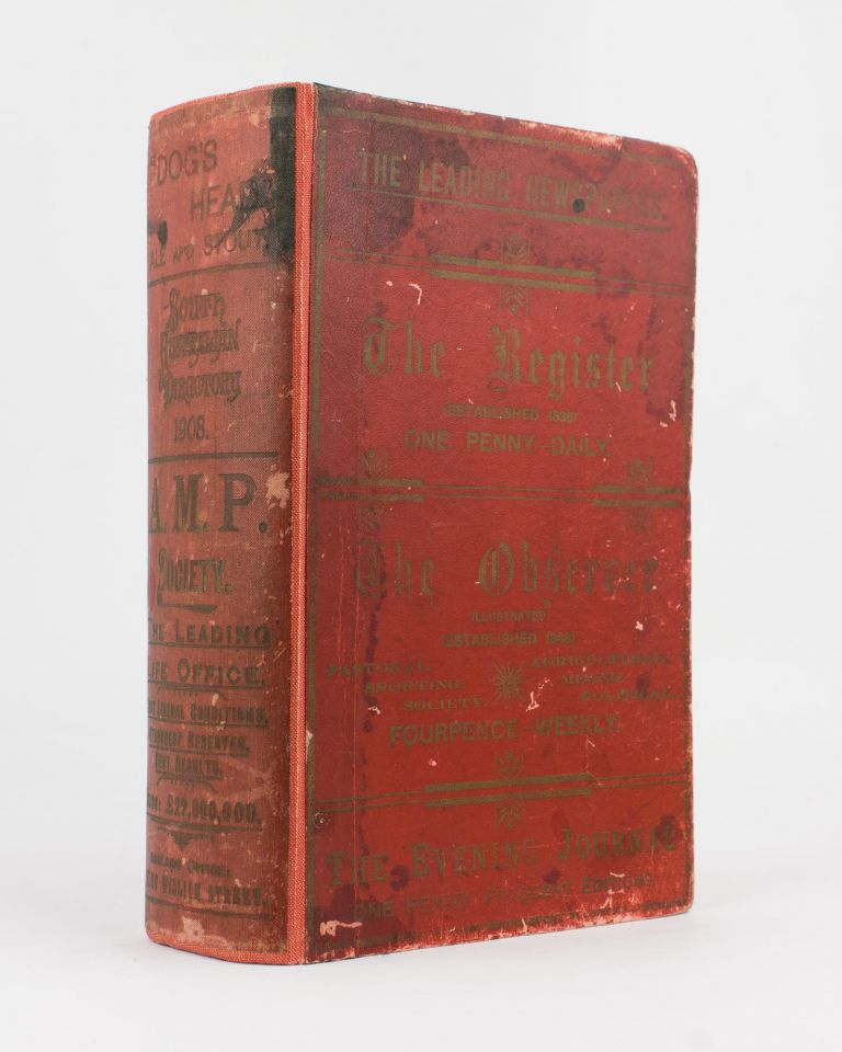 Sands & McDougall's South Australian Directory 1908, with which is incorporated Boothby's South Australian Directory