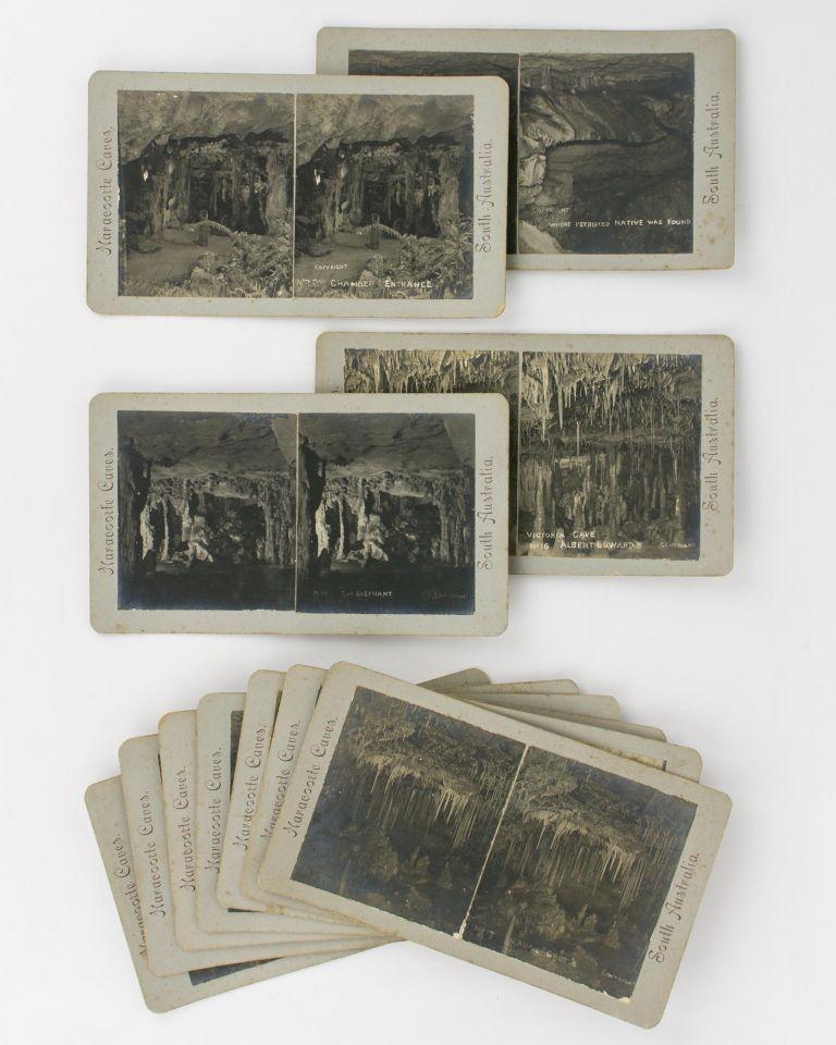 A series of 19 stereographs of the Naracoorte Caves in the south-east of South Australia. Naracoorte Caves.