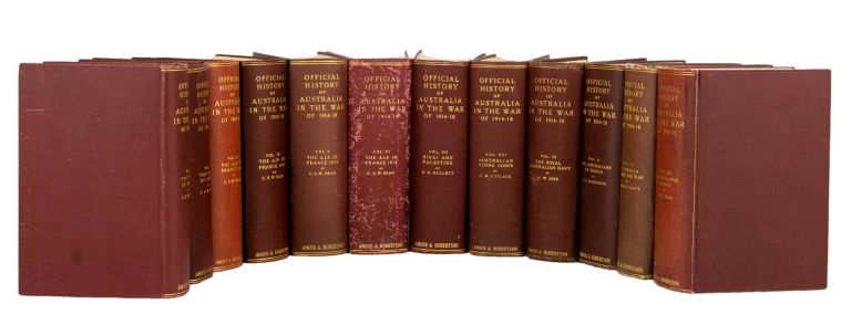 Official History of Australia in the War, 1914-1918 [the complete twelve-volume set]. Charles Edwin Woodrow BEAN.