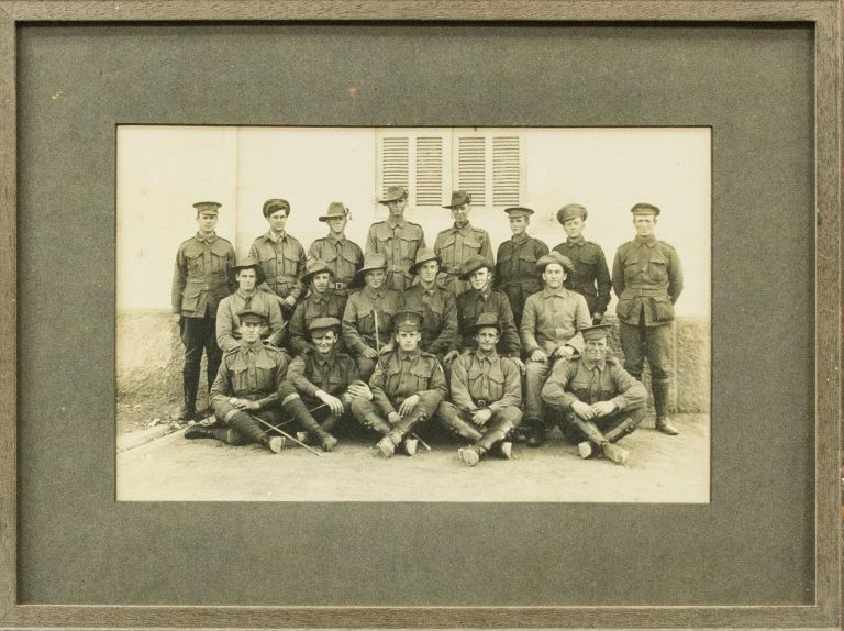 A group photograph of 19 members of the 22nd Battalion at Heliopolis in January 1916. 22nd Battalion.