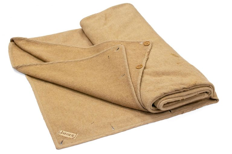 A Jaeger camel-hair woollen blanket-sleeping bag as supplied to members of the Australasian Antarctic Expedition, 1911-1914. Douglas MAWSON.