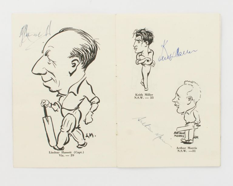 Caricatures of the Australian XI. English Tour 1953. Arthur MAILEY.