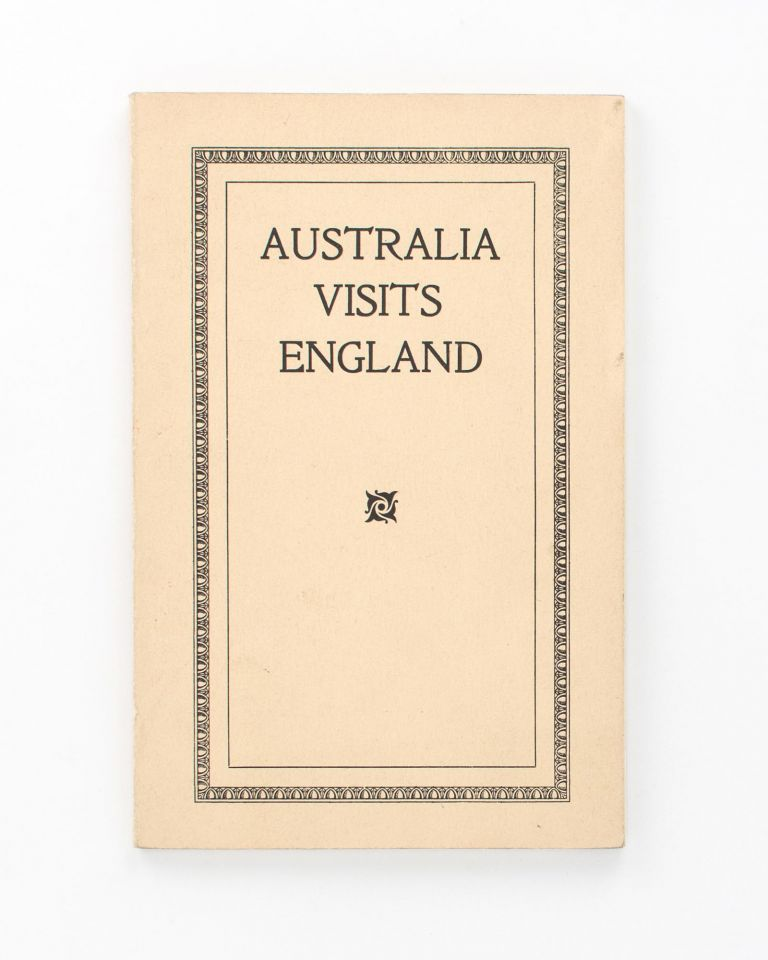 Australia visits England. Contrasts and Similitudes. By Aussie. Thomas DUFFIELD, AUSSIE.