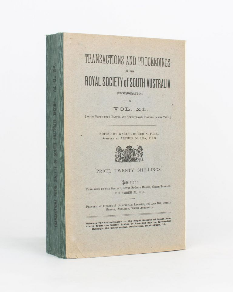 Auroral Observations at the Cape Royds Station, Antarctica. [Contained in] Transactions and Proceedings of the Royal Society of South Australia, Volume 40, 1916. British Antarctic Expedition, Sir Douglas MAWSON.