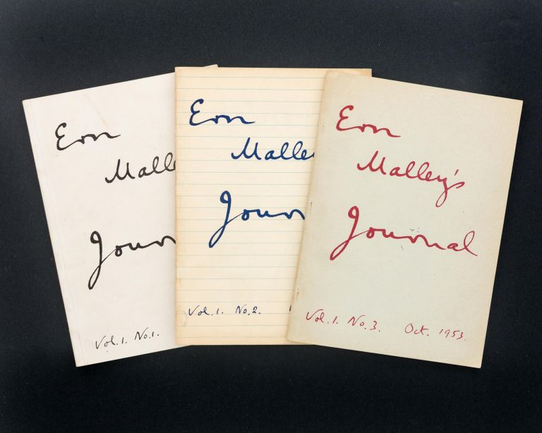 Ern Malley's Journal. Volume 1, Number 1, November 1952; Number 2, March 1953; and Number 3, October 1953. Max HARRIS, John REED, Barrie REID.