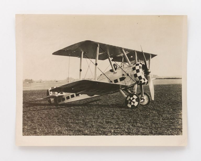 A vintage photograph of Captain Arthur Cobby in the cockpit of a Sopwith Camel. Aviation, Group Captain Arthur Henry COBBY, Australian Flying Corps.