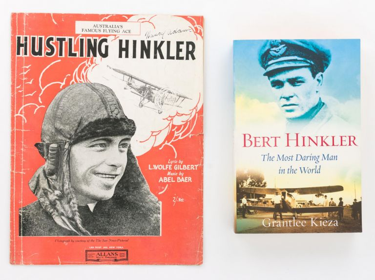 Hustling Hinkler (Fox-Trot Song). Lyric by L. Wolfe Gilbert. Music by Abel Baer. Aviation, L. Wolfe GILBERT, Abel BAER, Bert HINKLER.