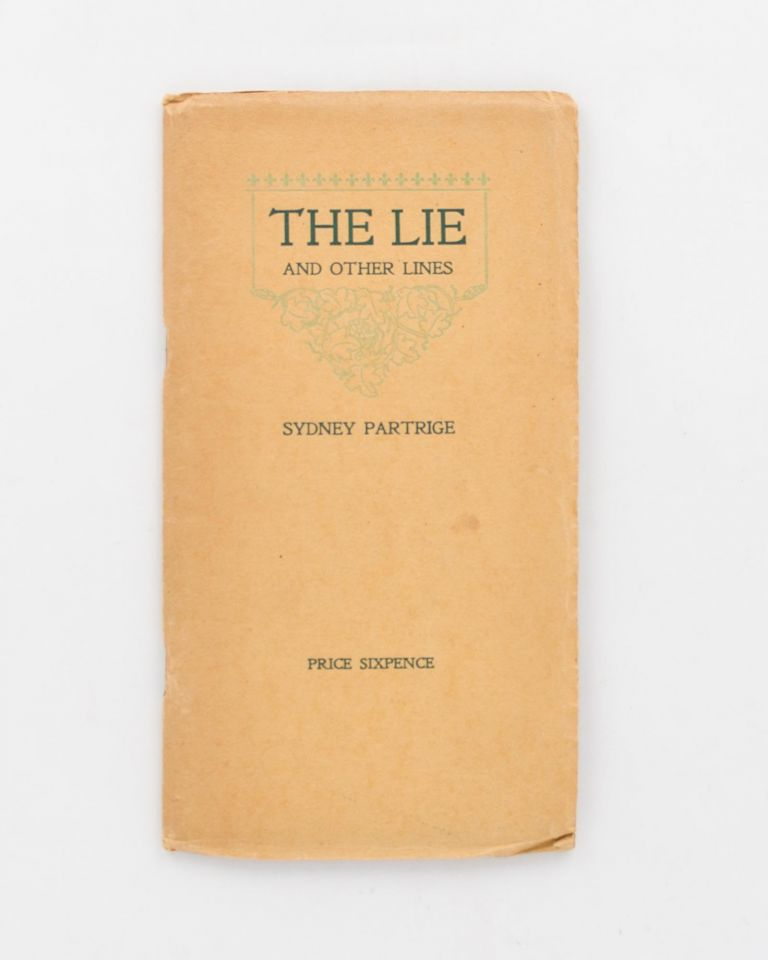 The Lie and Other Lines. Australian Private Press, Sydney PARTRIGE.
