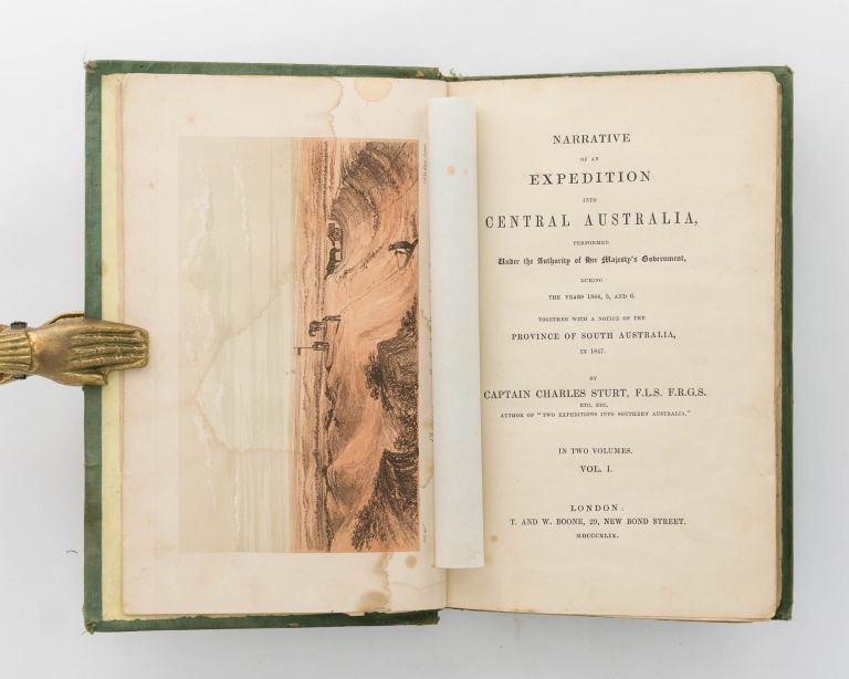 Narrative of an Expedition into Central Australia ... during the Years 1844, 5 and 6. Together with a Notice of the Province of South Australia, in 1847. George Woodroofe GOYDER, Charles STURT.
