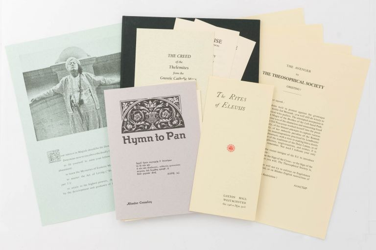A collection of 13 pieces of printed ephemera reproduced in facsimile form. Aleister CROWLEY.