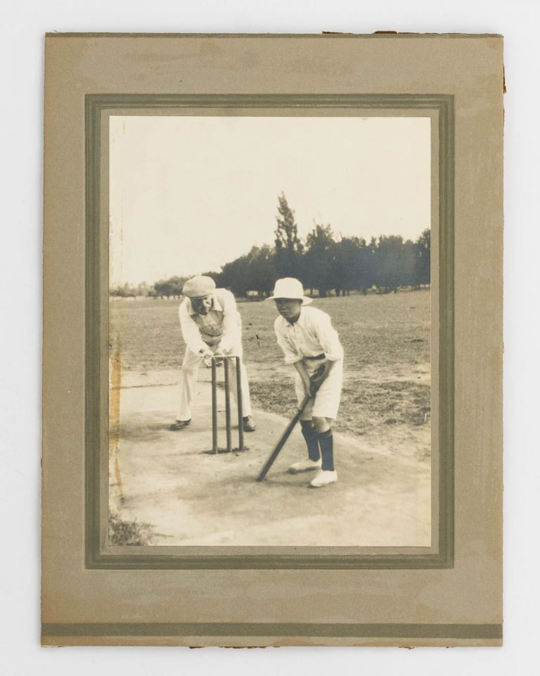A photograph taken late in life of the cricketer 'regarded as the world's premier all-rounder at the end of the nineteenth century'. Cricket, George GIFFEN.