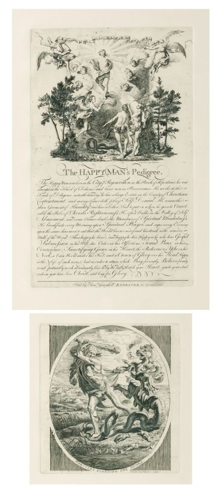 'The Happy Man's Pedigree' [title of a copperplate engraving]. Samuel GURNHILL.