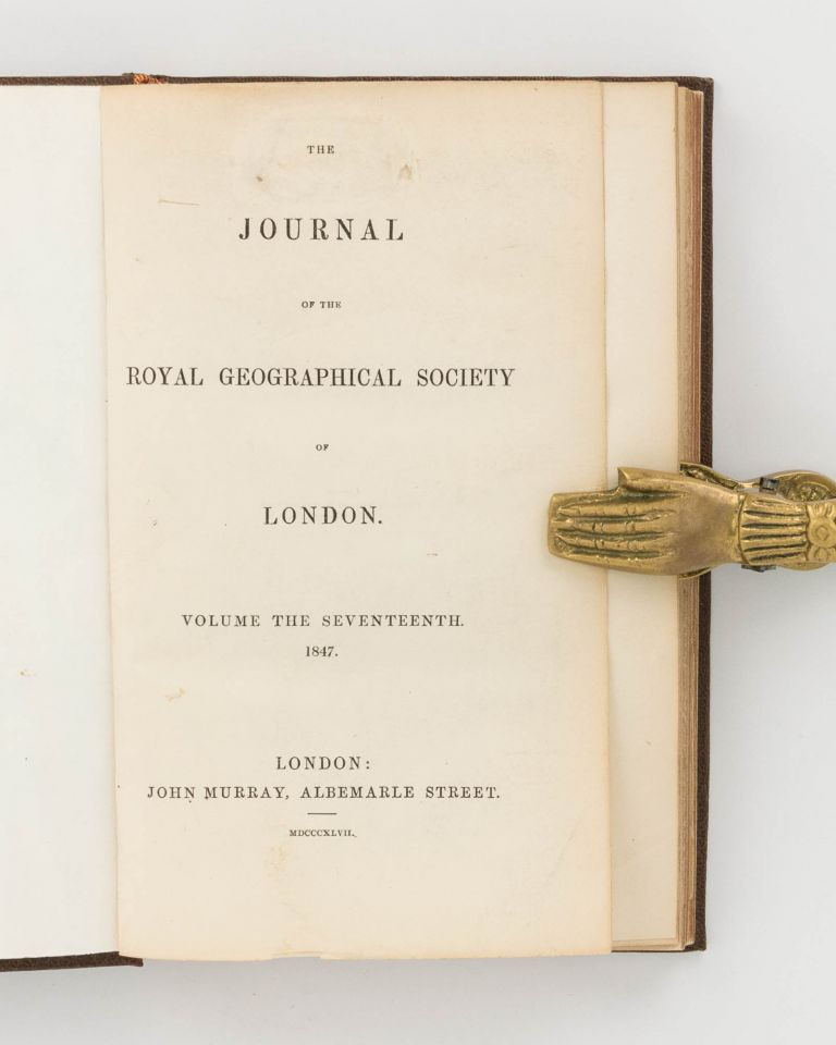 A Condensed Account of an Exploration in the Interior of Australia ... in 1844 and 1845 ... [Contained in] Journal of the Royal Geographical Society of London, Volume 17, 1847, Part 2. Charles STURT.