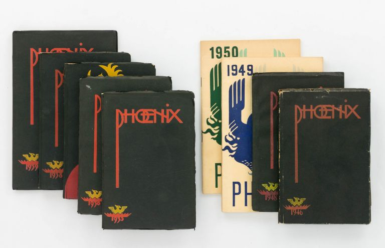 Phoenix. Published annually by the Adelaide University Students' Representative Council. 1935. [Together with the issues for 1936, 1937, 1938, 1939, 1946, 1948, 1949 and 1950 - the complete set of nine volumes]. Phoenix.
