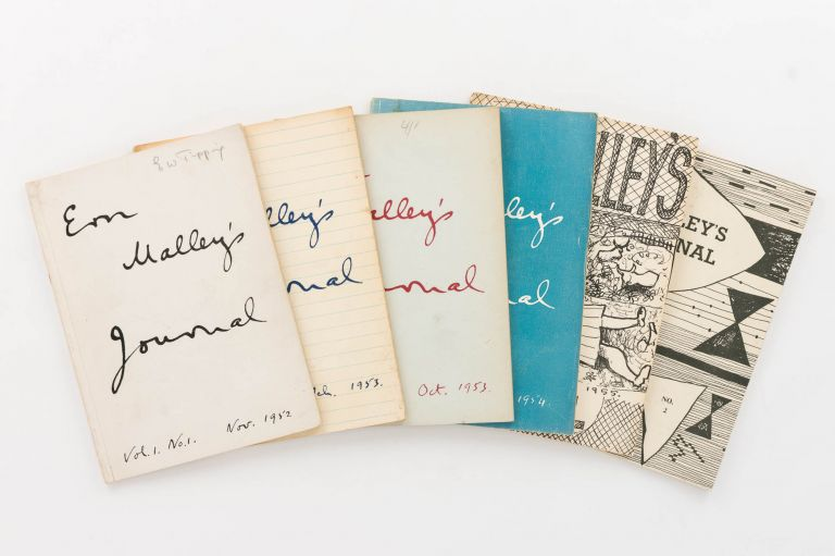 Ern Malley's Journal. Volume 1, Number 1, November 1952 to Volume 2, Number 2, November 1955. [The complete run of six issues, published sporadically, and edited by Max Harris, John Reed and Barrie Reid]. Ern Malley's Journal.