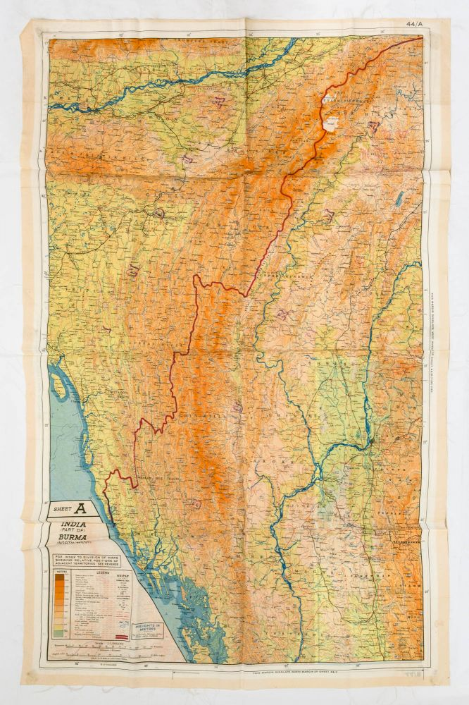 44/A India (Part of) and Burma (North West) [recto]. [Together with] 44/B Burma (North East), Siam (Thailand) (North), French Indo China (Part of), China (Part of) [verso]. Maps: South-East Asia.