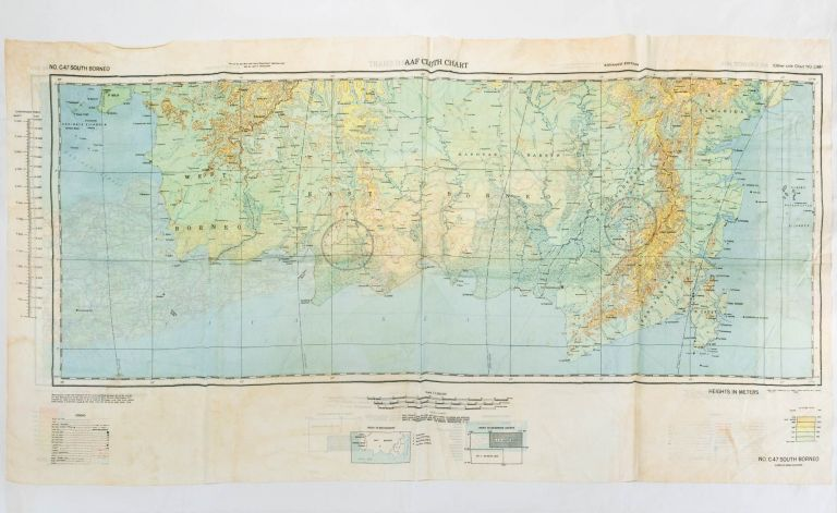 AAF Cloth Map [Miscellaneous Maps Series]. C-47 South Borneo [recto]. [Together with] C-48 West Java [verso]. Advance Edition. Maps: South-West Pacific Area.