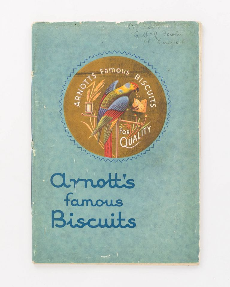 Arnott's Famous Biscuits [cover title]. Trade Catalogue.