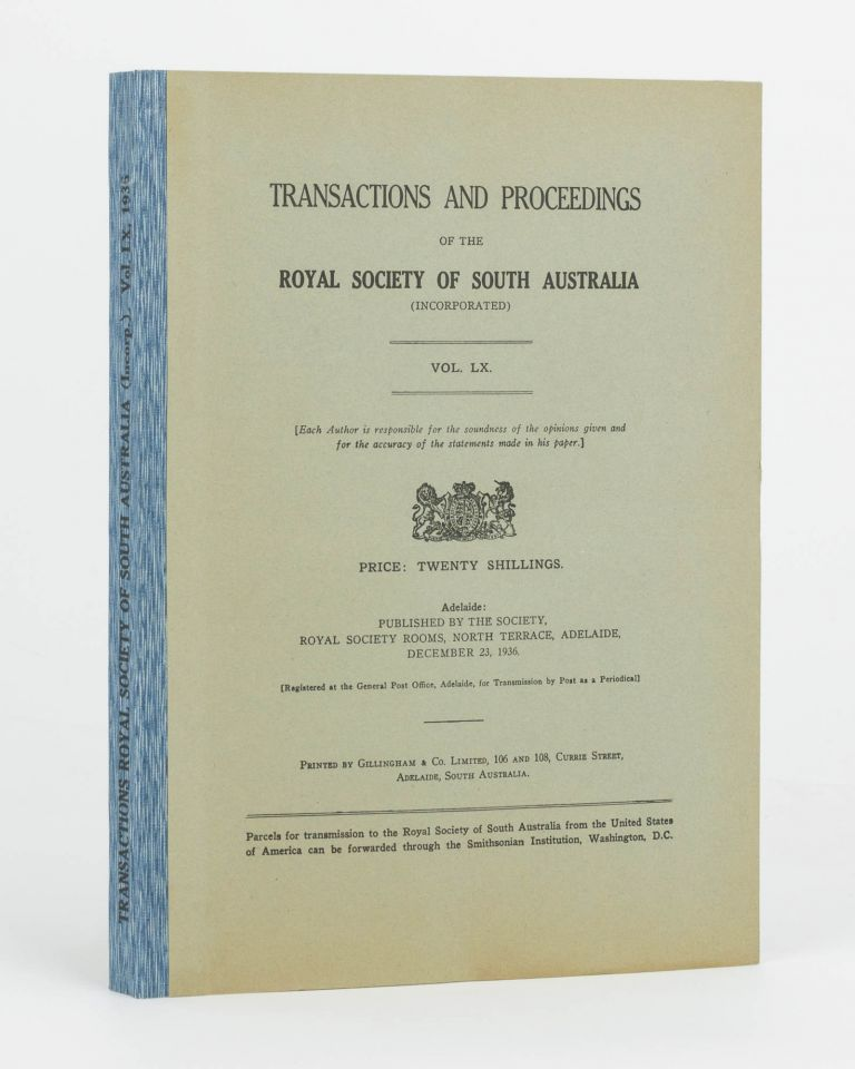 Notes on the Natives of the Southern Portion of Yorke Peninsula, South Australia. [Contained in] Transactions of the Royal Society of South Australia, Volume 60, 1936. N. B. TINDALE.