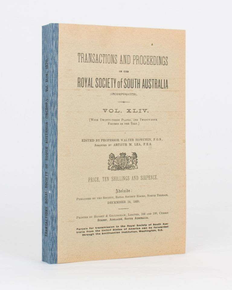 Vocabularies of Four South Australian Languages - Adelaide, Narrunga, Kukata, and Narrinyeri - with Special Reference to their Speech Sounds. [Contained in] Transactions of the Royal Society of South Australia, Volume 44, 1920. J. M. BLACK.