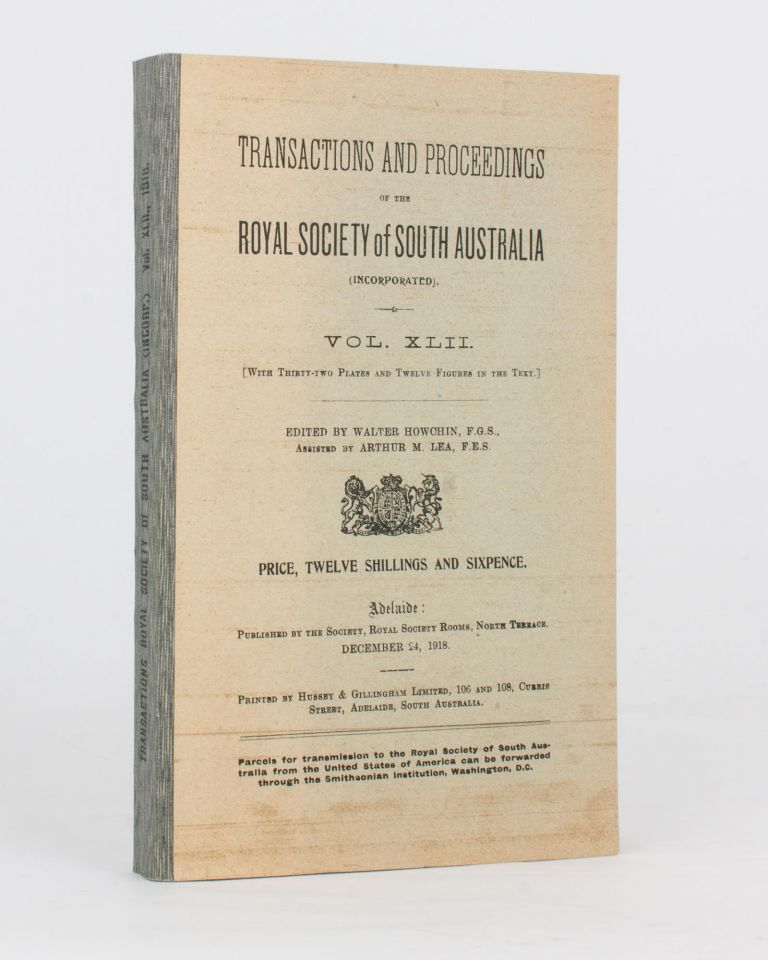 Aborigines of the West Coast of South Australia. Vocabularies and Ethnographical Notes. (Communicated by J.M. Black). [Contained in] Transactions and Proceedings of the Royal Society of South Australia, Volume 42, 1918. Daisy M. BATES.