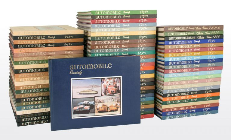 Automobile Quarterly. The Connoisseur's Periodical of Motoring Today, Yesterday and Tomorrow. Volume 1, Number 1, Spring 1962 to Volume 19, Number 2, 1981 (lacking only Volume 17, Number 3 and Volume 18, Number 2 from the run). Motoring.