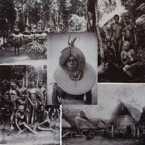 Forty-four vintage photographs (circa 1887-94) of indigenous life in the Bismarck Archipelago and German New Guinea are offered as a collection. Richard PARKINSON.